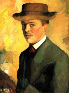 August Macke, Self-Portrait with Hat