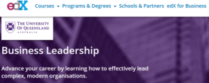 Screenshot edx Course Business Leadership
