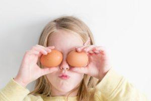 Girl Playinng with Eggs