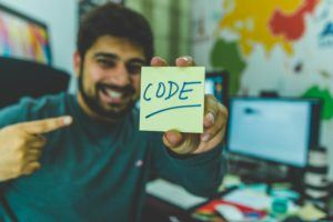 Programmer Smiling