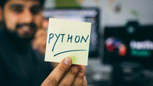 Handwritten Note Showing the Word 'Python'