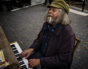 Street Piano Player