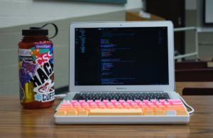Colorful Coffee Cup and Laptop