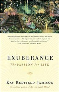 Screenshot of the Book Cover Exuberance The Passion for Life