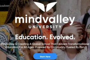 Screenshot with the Mindvalley University Website