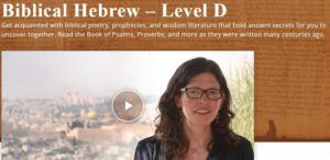 Screenshot Biblical Hebrew Course for Experts D