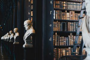Busts in a LIbrary