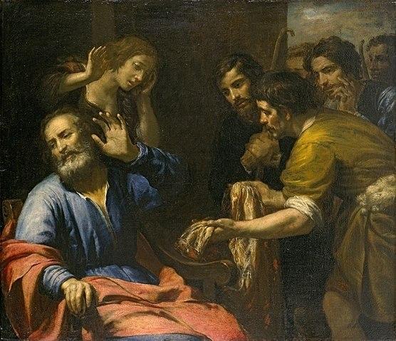 Who Was Joseph's Father in the Bible? Joseph's Coat Brought to Jacob by Giovanni Andrea de Ferrari, c. 1640