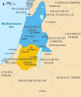 Map Showing the Kingdoms of Israel and Judah