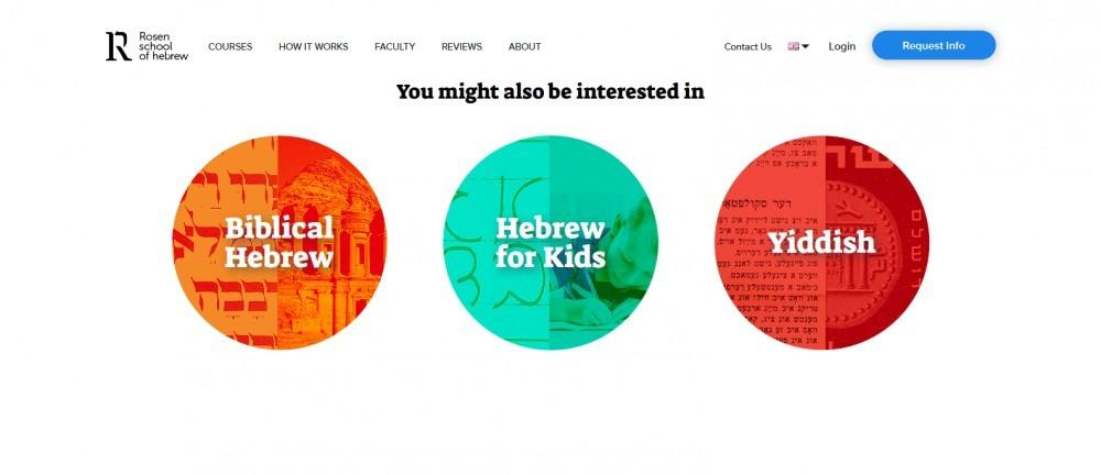 Learning Hebrew: Kids. Banner With a Course In Hebrew for Kids
