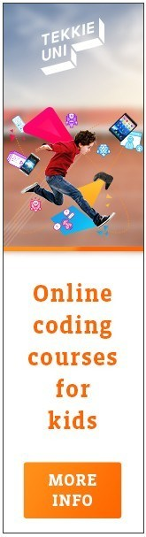 Banner with an Online Coding Course