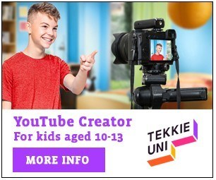 Banner With an YouTube Creator Course for Kids