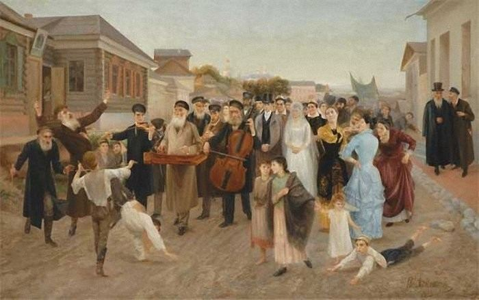 Isaak Asknaziy (1856-1902), Jewish Wedding with Klezmer Band