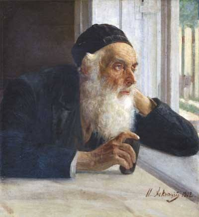 Isaak Asknaziy (1856-1902), An Elderly Jew