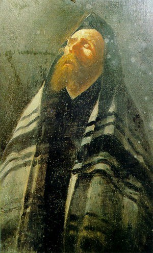 Szymon Buchbinder (1853-1908), Rabbi Praying.